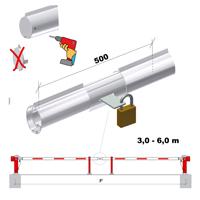 Sperrbalkenverriegelung RAL 9010 bis 6 m