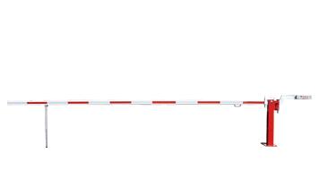 Schlagbaum WES 41 mit verstellbarem Gegengewicht rot/weiß zum Aufdübeln mit gefederter Pendelstütze