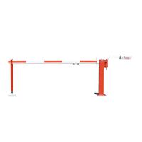 Schlagbaum WES 41 mit verstellbarem Gegengewicht rot/weiß zum Aufdübeln mit fester Auflagestüzue